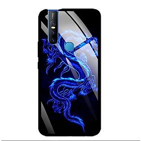 Ốp Lưng Kính Cường Lực cho điện thoại Vivo V15 - 0270 DRADON02 - Hàng Chính Hãng