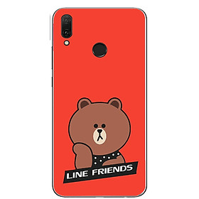 Ốp lưng dành cho Huawei Y9 (2019) (Dẻo) - Gấu Line Friends- Hàng Chính Hãng