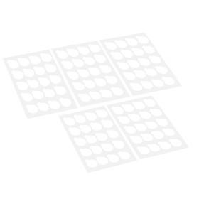 100pcs Disposable Eyelash Glue Holder Pallet Eyelash Extension Glue Pads Stand On Eyelash Glue Patches Sticker Small
