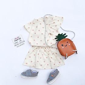 Set bộ quần áo bé gái Phuongboutique quần váy cho bé từ 5-16kg