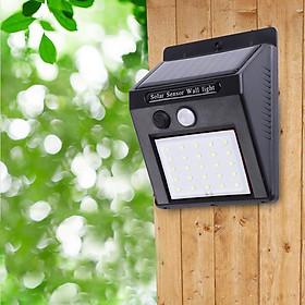 Đèn Led Chiếu Sáng Chống Nước Năng Lượng Mặt Trời Có Cảm Biến Chuyển Động 20 LED