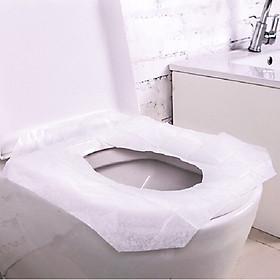 Miếng lót bồn cầu/ Đệm ngồi, dùng một lần cho bà mẹ sau sinh hoặc đi du lịch (gói 10 miếng)