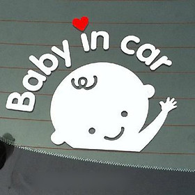Decal {Baby in car} dán xe hơi (ô tô)