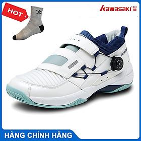 Giày cầu lông Kawasaki K530 chuyên nghiệp, đế kếp, chống lật cổ chân, giày bóng chuyền -  tặng kèm tất thể thao Bendu