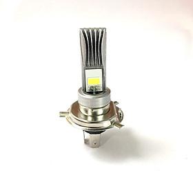 Đèn pha led chân H4 Rãnh 2 tim (đèn siêu sáng dành cho xe máy)