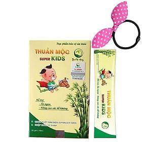 Siro ăn ngon cho bé Thuần Mộc Super Kids Thanh Mộc Hương (Hộp 20 gói), Tặng Kèm Cột Tóc Cho Bé Màu Ngẫu Nhiên