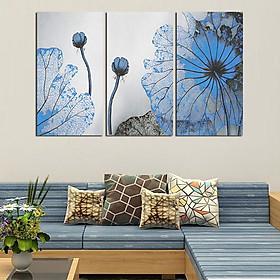 Tranh Canvas treo tường nghệ thuật | Tranh bộ nghệ thuật 3 bức | HLB_123
