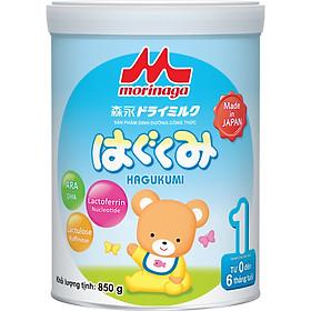 Combo Sữa Morinaga Số 1 Hagukumi (850g) và đồ chơi tắm Toys House