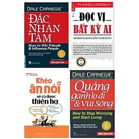 Combo Kỹ Năng Sống Tâm Đắc Nhất : Đắc Nhân Tâm + Đọc Vị Bất Kỳ Ai + Quẳng Gánh Lo Đi Và Vui Sống + Khéo Ăn Nói Có Được Thiên Hạ  (Nghệ Thuật Sống Đẹp / Đối Nhân Xử Thế)