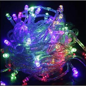 Dây Đèn Led Nháy Nhiều Màu Trang Trí Noel Lễ Tết 4M Có Chỉnh Chế Độ Nháy