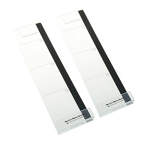 2PC Computer Monitor Screen Memo Board Pads Side Panel Sticky Reminder Holders