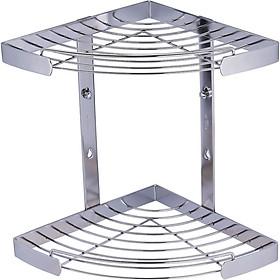Kệ góc 2 tầng dùng trong phòng tắm BAO - BN620 (Inox 304)