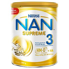 Sản phẩm dinh dưỡng công thức Nestlé NAN SUPREME 3 lon 800g cho trẻ từ 2-6 tuổi
