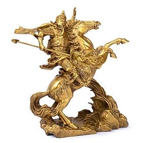 Hình đại diện sản phẩm Tượng quan Công Vân Trường cưỡi ngựa xích thố bằng đồng thau phong thủy Tâm Thành Phát