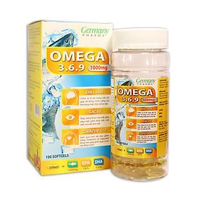 Viên dầu cá Omega 3 6 9 Fish oil Bổ não, sáng mắt, khỏe mạnh tim mạch, tăng cường trí nhớ - Hộp 100 viên thành phần dầu cá 1000mg, EPA 180mg, DHA 120mg