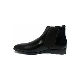 Giày Boot Nam Chelsea Da Bò G19 - Đen