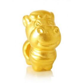 Charm Vàng 24K 12 Con giáp - Ngọ - Ancarat - Miễn phí tết vòng tay Handmade đi kèm