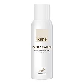 Xịt khoáng cấp ẩm và làm trắng Rene Purity & White - Nutritious Mineral Water (200ml)