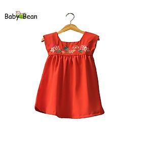 Đầm Đũi thêu Trái Cây bé gái BabyBean