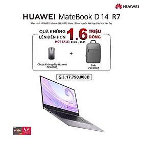 Máy Tính Xách Tay Huawei Matebook D 14 R7 (8+512G) | Hệ điều hành Windows 10 | Màn hình HUAWEI Fullview 14-inch | Huawei Share | Phím Nguồn Kết Hợp Bảo Mật Vân Tay | Hàng chính hãng