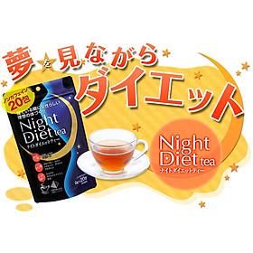 Combo 2 Gói Trà Giảm Cân Thảo Mộc Ban Đêm Night Diet Tea Orihiro Nhật Bản 20 túi lọc/gói