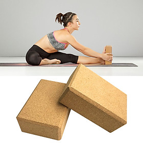 Yoga Cork Blocks With Adjustable Yoga Stretching Strap Yoga Cork Wood Bricks Adjustable Yoga Belt Yoga Band-1