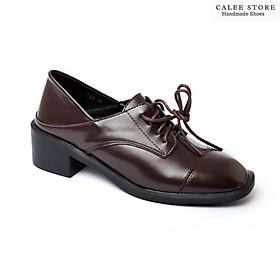 MẪU MỚI VIDEO TỰ QUAY giày oxford 5p cao 5cm loafer nữ da mềm màu nâu và màu đen đế bệt hàng fullbox có sẵn hà nội 763