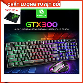 Combo Bàn phím GTX 300 + CHUỘT + Lót Razer - Hàng Nhập Khẩu