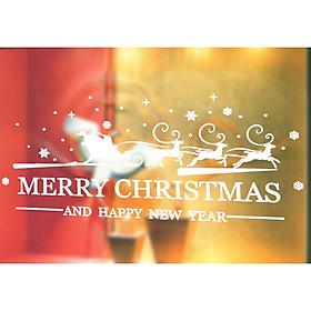 Miếng Dán Cửa Kính PVC Phong Cách Giáng Sinh