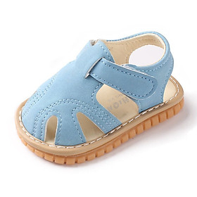 Fashion Summer Baby Boys Girls Sandals Breathable Anti-Slip Solid Print Toddler Soft Soled Sandals New Baby Shoes
