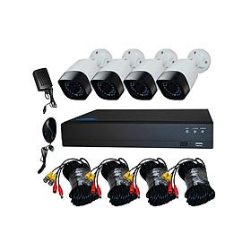 Bộ Kit Camera AHD 2.0Mp Full HD - Trọn Bộ Camera AHD 4 Kênh + Kèm Ổ Cứng 500GB