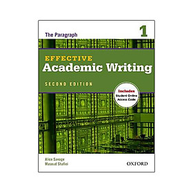 Effective Academic Writing 1 Student Book with Access to Oxford Learn 2Ed