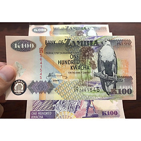 Tiền cổ Zambia 100 Kwacha, quốc gia nghèo châu Phi