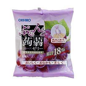Thạch rau câu Orihiro hương hoa quả thơm ngon giòn mát cho bé - Vị Nho tím Nội địa Nhật Bản