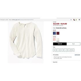 Áo thun dài tay (trắng sữa), chất liệu len tăm mỏng, co giãn 4 chiều, không bai xù, full size từ 15-65kg!