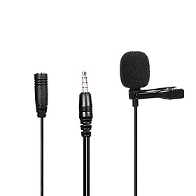 Omnidirectional Microphone 3.5mm Tie-clip Microphone Mini Microphone for Computer Laptop Mobile Phone