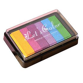 Hộp mực dấu 6 màu Let's Color