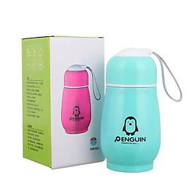 Bình đựng nước, bình ủ cháo giữ nhiệt ruột inox vỏ nhựa hình chim cánh cụt nhỏ gọn tiện lợi