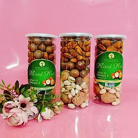 Hỗn hợp Mixed Nuts 4 loại hạt dinh dưỡng nhập khẩu cao cấp còn vỏ (óc chó,dẻ cười,hạnh nhân,macca) 500g