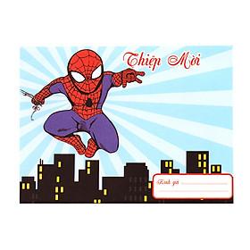 10 bộ thiệp mời sinh nhật chủ đề người nhện