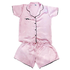 Đồ Mặc Nhà Vải Satin Lụa Siêu Mát Pijama Thái SATINLUA280501 - Hồng Đất