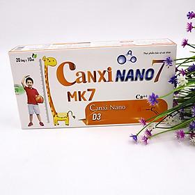 Thực phẩm bảo vệ sức khỏe hộp 20 ống Canxi Nano 7+ bổ sung canxi, giúp xương chắc khỏe và hỗ trợ tăng chiều cao cho trẻ