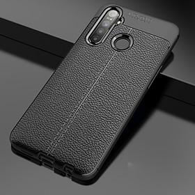 Ốp lưng Auto Focus silicon giả da, chống sốc cho Oppo Realme 5 - Hàng chính hãng