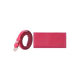 Bộ Thắt Lưng Và Ví Nữ Da Bò Huy Hoàng HT5111-HT3121 (Đỏ)