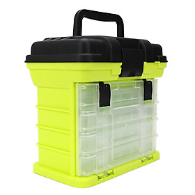 Fishing Tackle Box with 4 Fishing Boxes Water Resistant Fishing Tackle Storage Trays with Secure Locking Latches