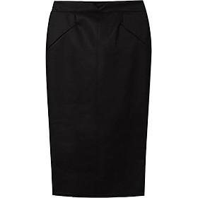 Váy Midi Da PU Cho Nữ - Đen