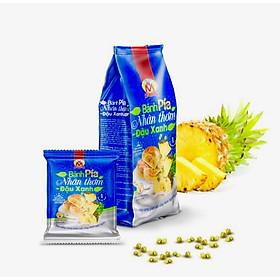400g Bánh pía NHÂN THƠM chín ĐẬU xanh CHANH tươi MỸ NGỌC [ KHÔNG CÓ sầu riêng & CÓ trứng muối ]