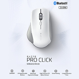 Razer Pro Click Bluetooth+2.4GHz Dual-mode Wireless Mouse Ergonomic Mice with 5G Optical Sensor 8 Programmable Buttons