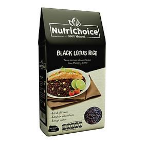 Gạo lứt đen dinh dưỡng - Gạo Tím Than Nutrichoice 500gr -  Thơm ngon dẻo ngọt, ăn là thích - Rất tốt sức khỏe, giàu chất chống oxy hóa, giàu chất Sắt, chất Xơ - Tốt cho người bệnh tim mạch, béo phì, tiểu đường.