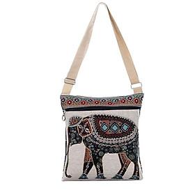 Elephanst Printed Embroidered Crossbody Bag